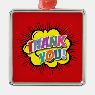 Thank You Metal Ornament