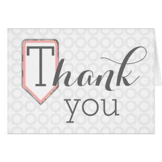 Thank you | Mixed Font | Grey Circles Stationary Card