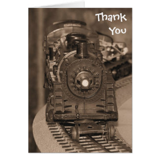 Thank You Model Train Card