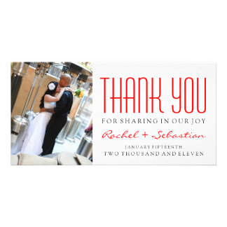 THANK YOU - MODERN CUSTOMIZED PHOTO CARD