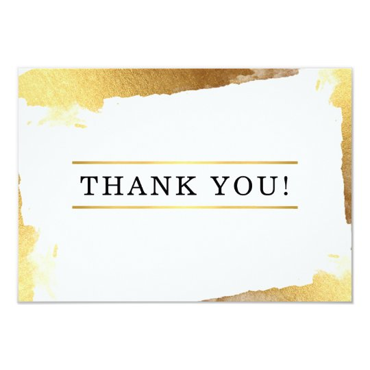 THANK YOU modern luxe gilded gold edges Card
