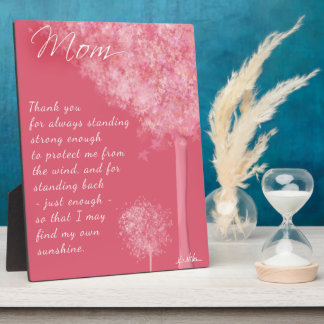 Thank You Mom Trees Plaque