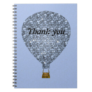 Thank You Mosaic Hot Air Balloon Meeting Notebook