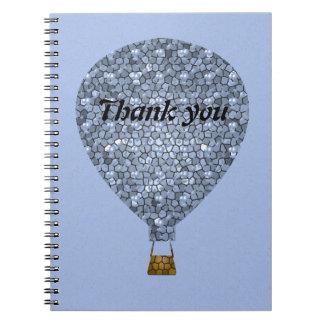 Thank You Mosaic Hot Air Balloon Meeting Spiral Notebook
