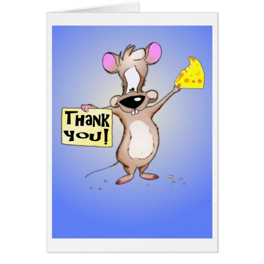 Thank You Mouse Card