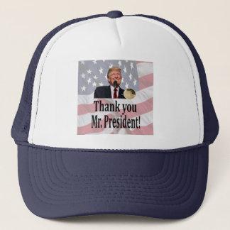 """Thank you Mr. President""""Americas 45th President"" Trucker Hat"