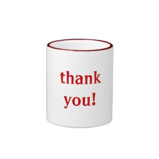 """""""thank you!"""" mug"""