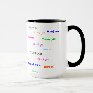 Thank you mug, coloured mug