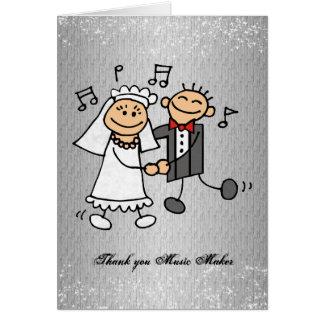 Thank You Music Wedding Reception Card