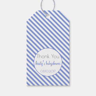 Thank You | Navy Blue Stripes Babyshower Gift Tags