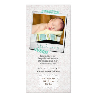 Thank You Note Baby Boy Blue Washi Tape Card