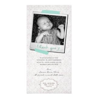 Thank You Note Baby Boy Blue Washi Tape Custom Photo Card