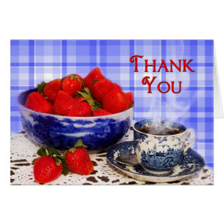 THANK YOU - NOTE CARDS - ANTIQUE FLOW BLUE