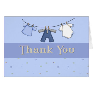 Thank You Note for Baby Boy Card