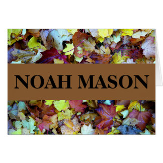 Thank You Note for Fall Leaves Collection Card