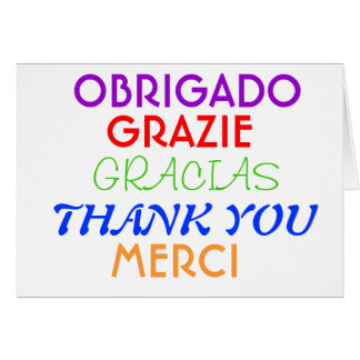 Thank you Note In Different Languages Card