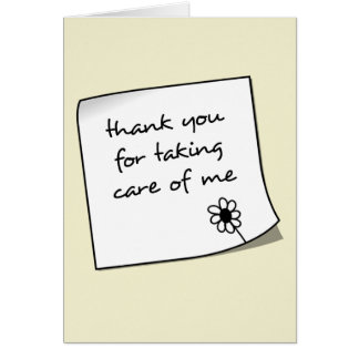 Thank You Note Nurse Notecard