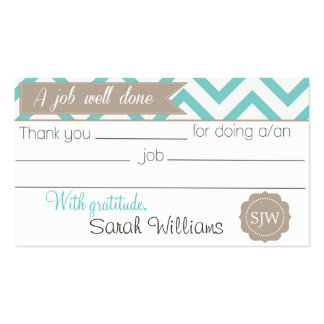 Thank you note pack of standard business cards