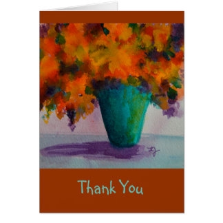 Thank You Notecard with Flowers in Vase