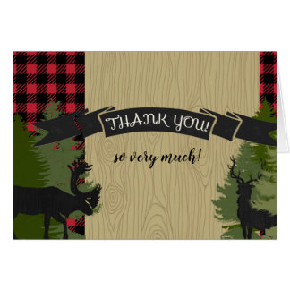 Thank You Notes Baby Boy Lumberjack Plaid Shower