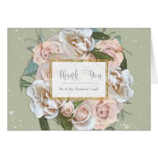 Thank You Notes Bride Bridal Shower Elegant Roses