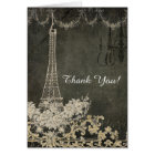 Thank You Notes Chalkboard Paris City of Love