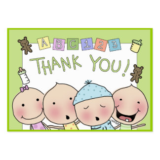 Thank You Notes from the Babysitter Large Business Card