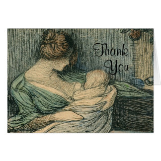 Thank You Notes Mother and Child By Rozentals
