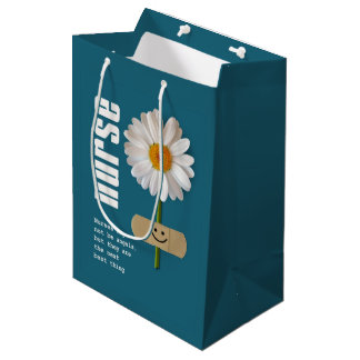 Thank You Nurse Daisy Design Gift Bags