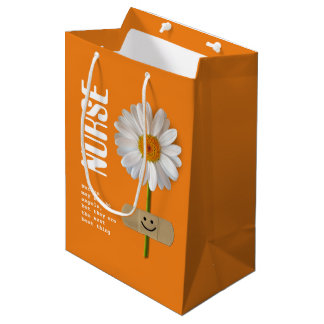 Thank You Nurse Daisy Design Gift Bags