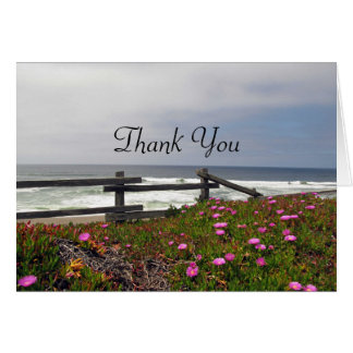 Thank You Ocean Flowers Note Card