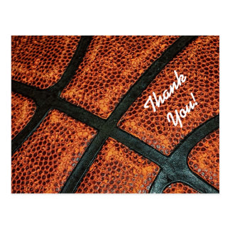Thank You Old Retro Basketball Pattern Postcard