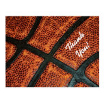 Thank You Old Retro Basketball Pattern Postcards