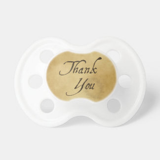 Thank you old vintage paper design baby pacifiers