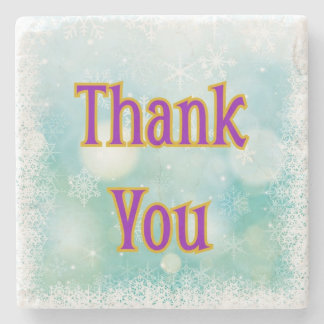 """Thank You"" on Marble Stone Coaster"