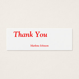 Thank You Option Name Personal Thin Gift Tag