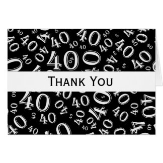 Thank You Over The Hill 40th Birthday Theme Card