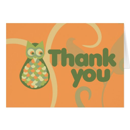 Thank You Owl Card