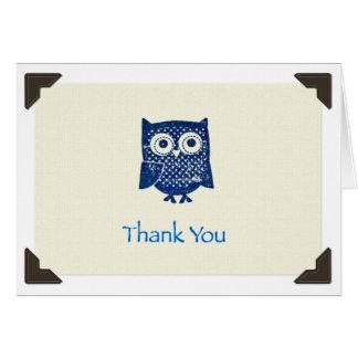 """Thank You"" Owl Notecard"