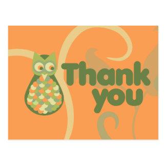 Thank You Owl Postcard