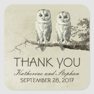 Thank you OWLS sticker for your wedding favors