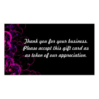 Thank you pack of standard business cards