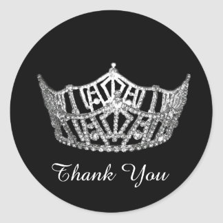 Thank You Pageant Crown Sticker