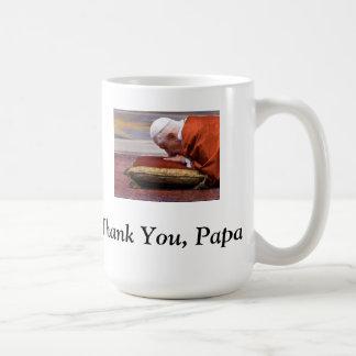 Thank You, Papa! - Pope Benedict XVI Classic White Coffee Mug