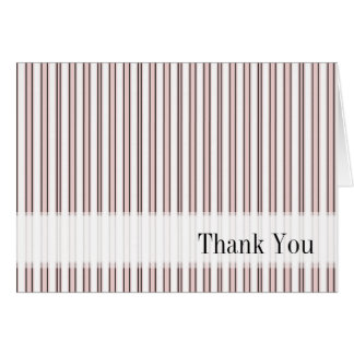Thank You Paris Pink Striped Blank Notecard Note Card