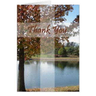 Thank You - Pastor Appreciation With Autumn Tree Greeting Card