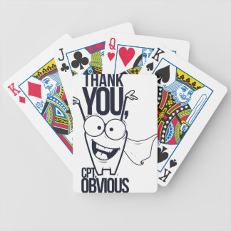 thank you pct obvious cool design bicycle playing cards