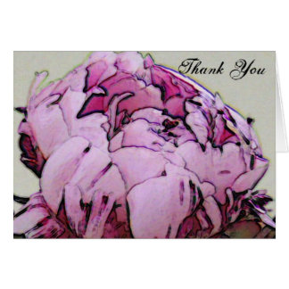 Thank You, Peony Card
