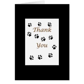 Thank You Pet Sitter with Paw Prints Black Frame Card