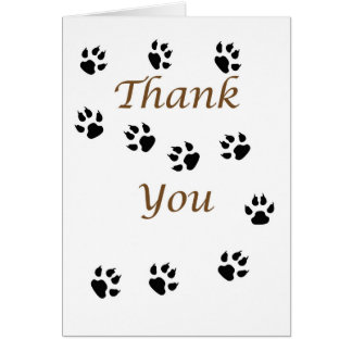 Thank You Pet Sitter with Paws Prints Card